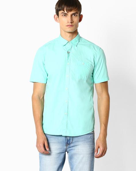 Regular Fit Poplin Shirt By TEAM SPIRIT ( Green )