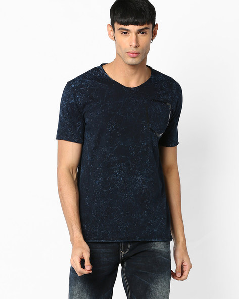 Slim Fit Printed T-shirt By SPYKAR ( Darkblue )