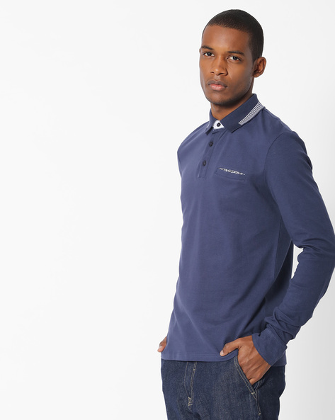 Slim Fit Polo T-shirt By Celio ( Indigo )