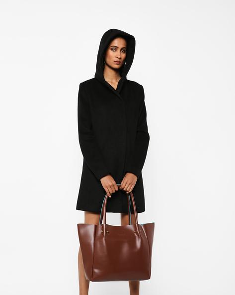 PU Tote Bag By Kanvas Katha ( Brown )