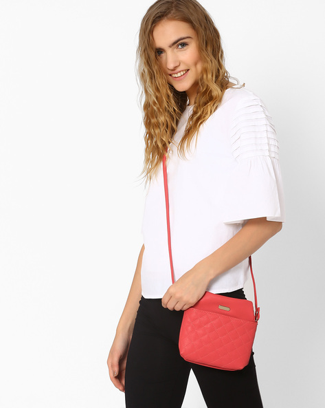 Quilted Sling Bag By Lavie ( Pink )