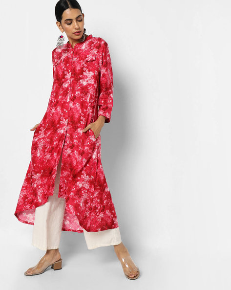Printed Flared Kurta By Project Eve IW Casual ( Red )