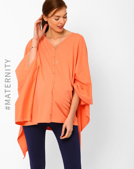 Multipurpose Convertible Wrap Top By AJIO ( Peach )