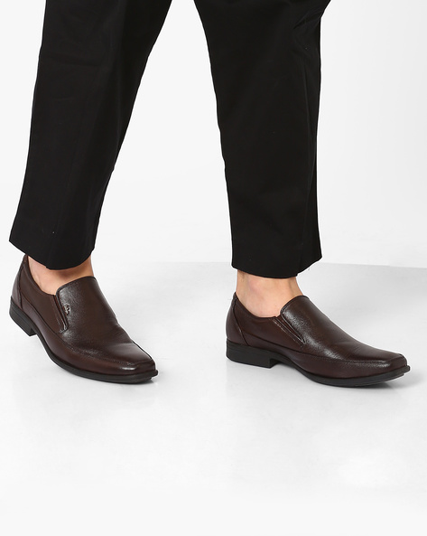 Genuine Leather Formal Shoes By Lee Cooper ( Brown )