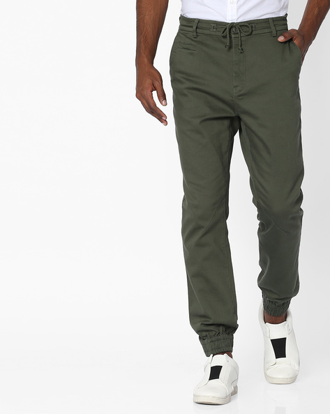 Cuffed Trousers With Drawstring Fastening By UNITED COLORS OF BENETTON ( Olive )
