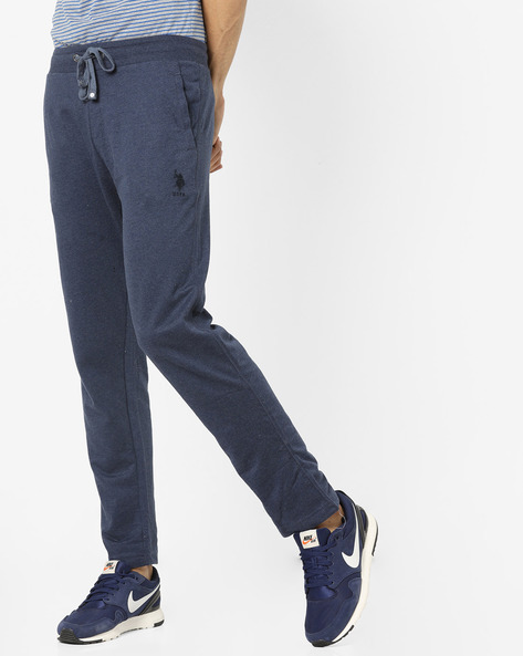 Drawstring Track Pants With Side Pockets By U.S. Polo Assn. ( Denim )