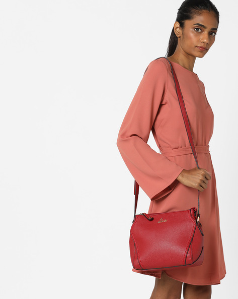 Textured Sling Bag By Lavie ( Red )