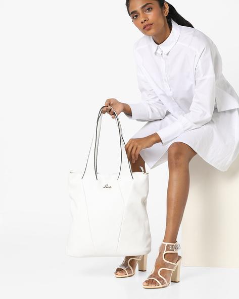 Lunar Tote Handbag With Detachable Sling Strap By Lavie ( White )