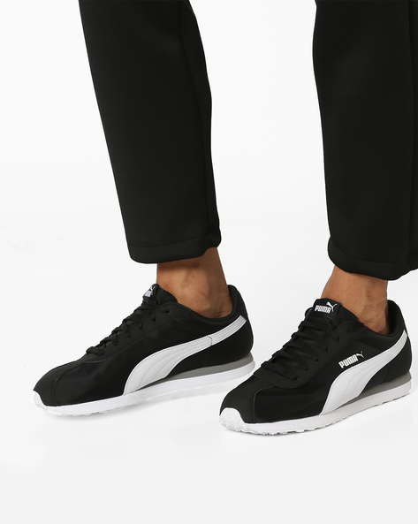 Turin Casual Shoes With Lugged Outsole By Puma ( Black )