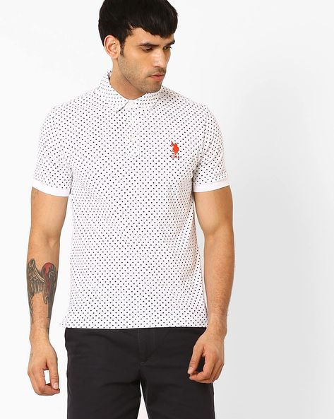 Slim Fit Polo T-shirt By US POLO ( White )