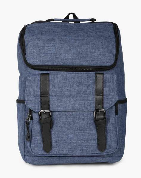 Laptop Backpack With Flap Pocket By AJIO ( Blue )