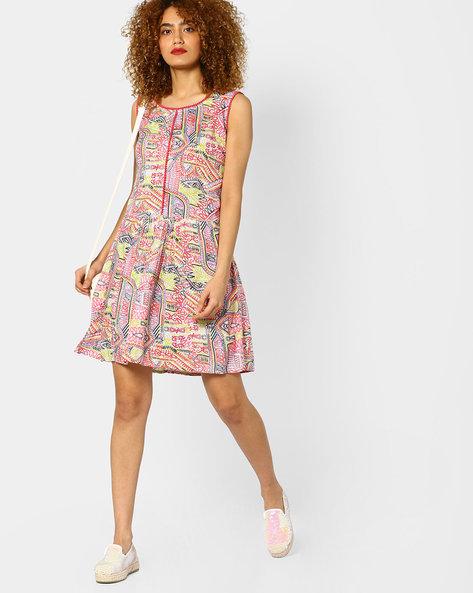 Printed Sleeveless Tunic By Jiyaa ( Multi )