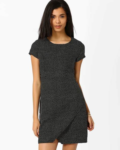 Polka-Dot Dress By Candies By Pantaloons ( Black )