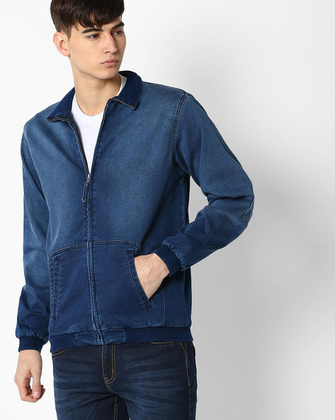 Slim Fit Jacket With Elbow Patches By DNM X ( Mediumblue )