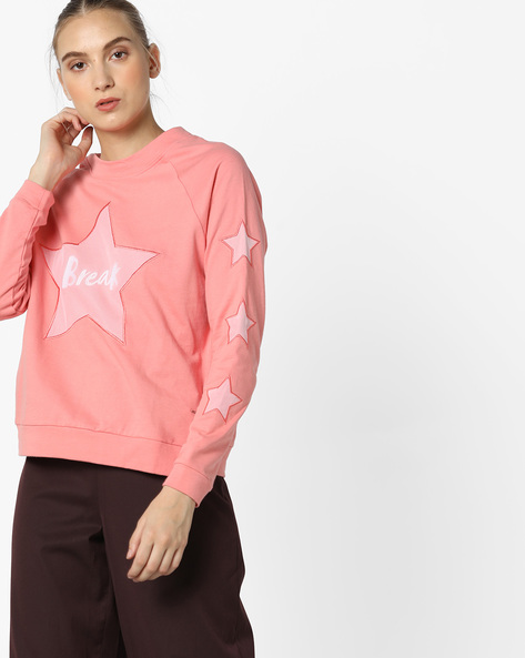 Pullover With Raglan Sleeves By Only ( Pink )