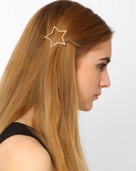 Star-Shaped Hair Clip By Ayesha ( Gold )