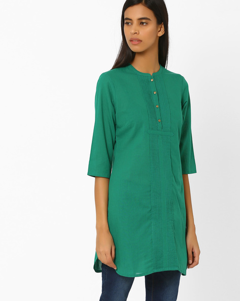 Straight Kurta With Pintucks By AURELIA ( Green )