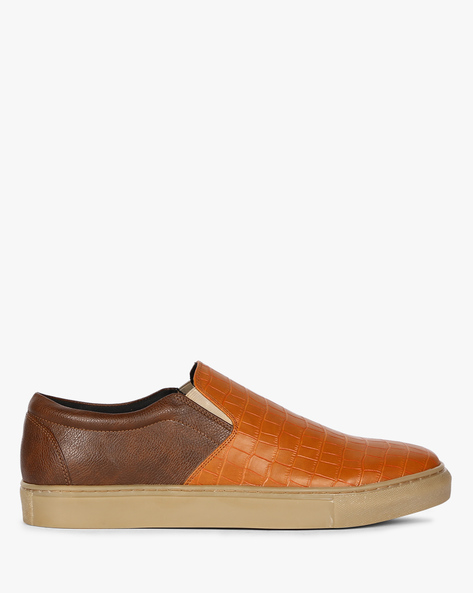 Slip-On Sneakers With Textured Upper By Funk ( Tan )