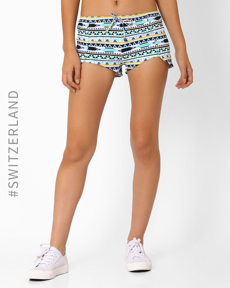 Printed Shorts With Tulip Hemline By TALLY WEiJL ( Multi )