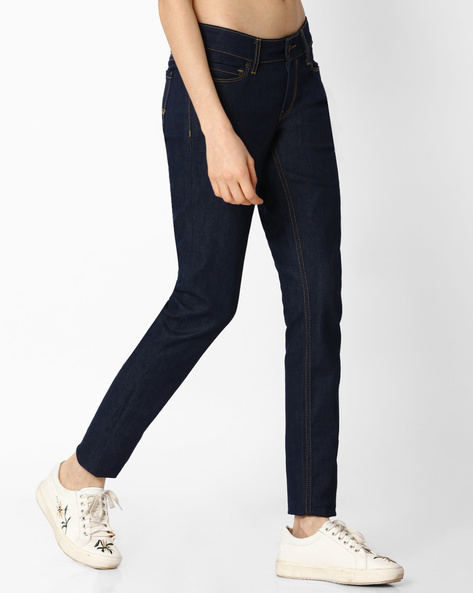 5-Pocket Skinny Jeans By Pepe Jeans ( Blue ) - 460067526002