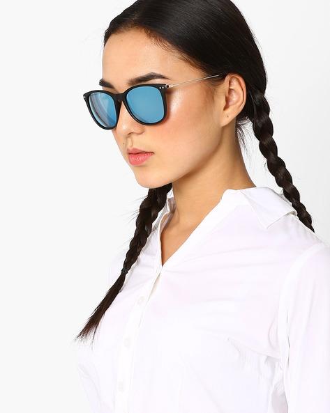 Polarised Cat-Eye Sunglasses By Macv ( Black )
