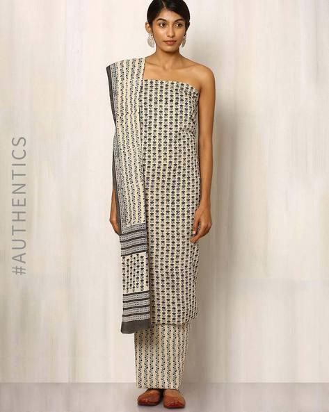 Bagru Print Cotton Dress Material By Indie Picks ( Multi ) - 460016882001
