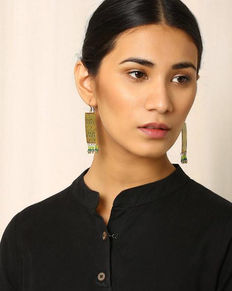 Brass Drop-Earrings By Indie Picks ( Multi ) - 460017819001