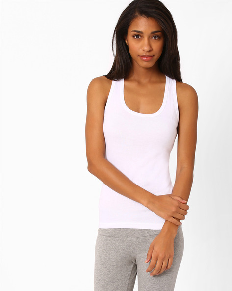 Racerback Tank Top By Floret ( White )
