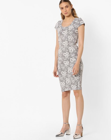 Floral Print Sheath Dress By ANONYMOUS CO ( White )