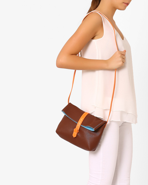 Foldover Sling Bag By Gusto ( Brown )