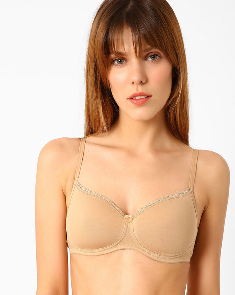 Full-Coverage T-shirt Bra By Jockey ( Beige )
