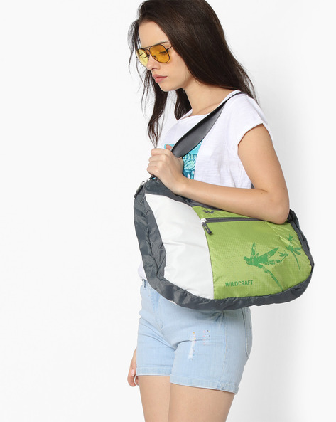 Colourblock Hobo Bag By Wildcraft ( Green )