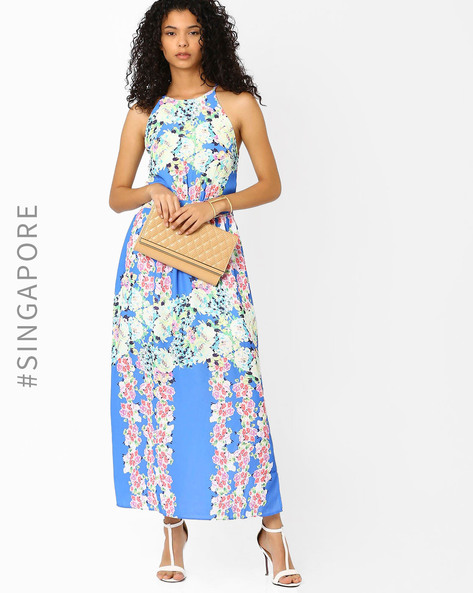 Floral Print Maxi Dress By MDS ( Multi )