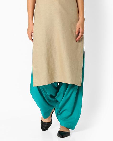 Cotton Patiala Pants By Stylenmart ( Darkgreen )