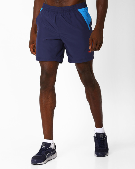 Training Shorts With Contrast Mesh By PERFORMAX ( Navy )