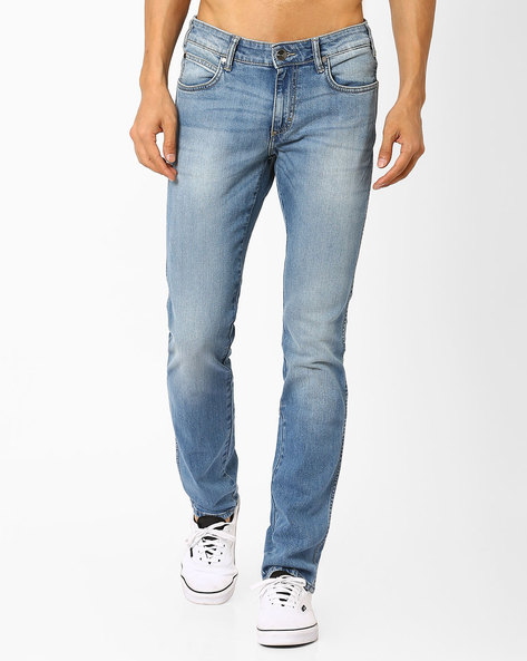 Slim Fit Jeans With Whiskers By WRANGLER ( Brtmulti )
