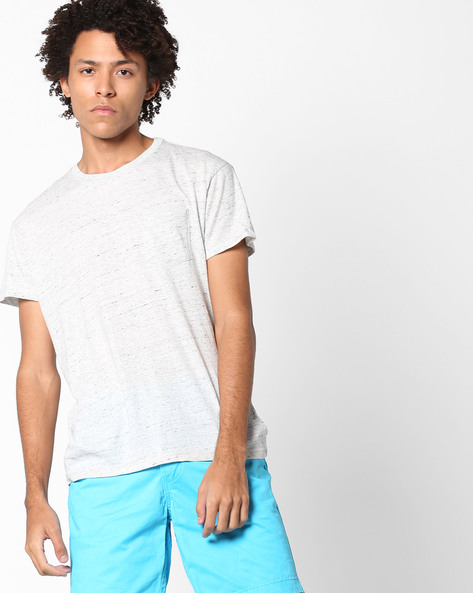Crew-Neck T-shirt With Patch Pocket By Aeropostale ( Lightgrey )