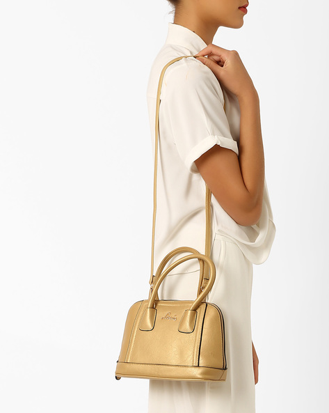 Textured Dome Satchel By Lavie ( Gold )