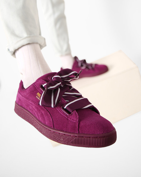 Casual Shoes With Lace-Ups By Puma ( Purple )