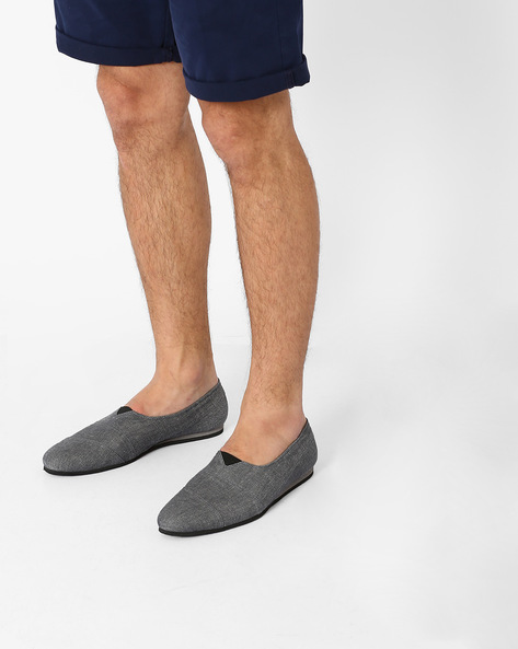 Canvas Slip-On Shoes By Funk ( Grey )