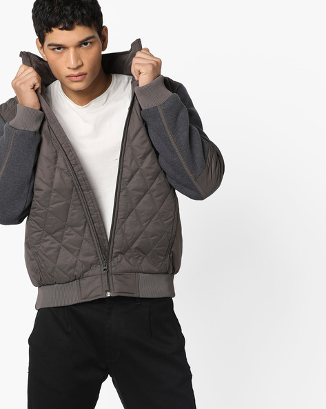 Quilted Jacket With Panelled Sleeves By WRANGLER ( Brown )