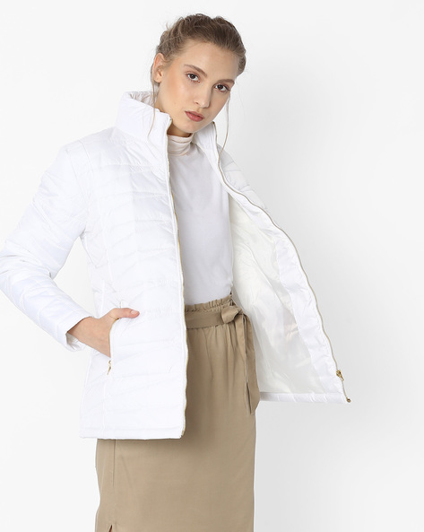 Quilted Bomber Jacket By DUKE WOMEN'S ( White )