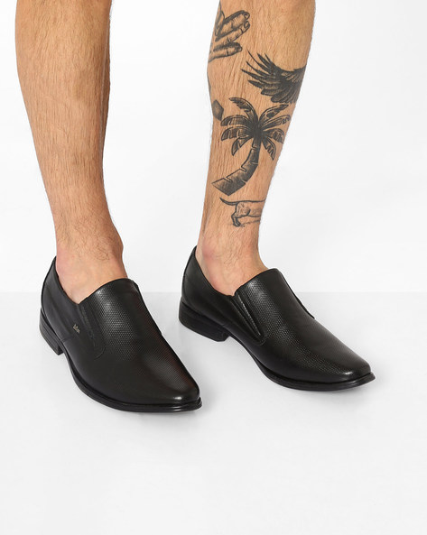 Leather Formal Slip-Ons By Lee Cooper ( Black ) - 460077200003