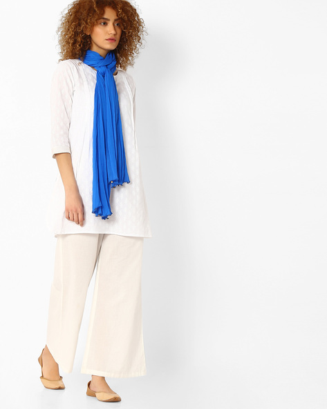 Dupatta With Embellished Detail By Melange By Lifestyle ( Blue )
