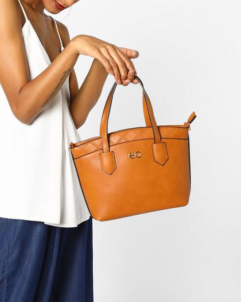 Satchel Bag With Detachable Sling By E2O ( Khaki )