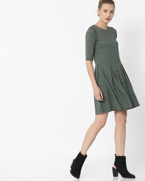 Grindle Skater Dress With Box Pleats By ANONYMOUS CO ( Green )