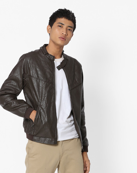 Panelled Jacket With Quilted Back By FLYING MACHINE ( Tan )