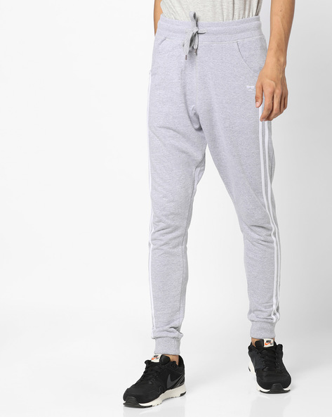 Relaxed Fit Joggers With Contrast Taping By Garcon ( Greymelange )