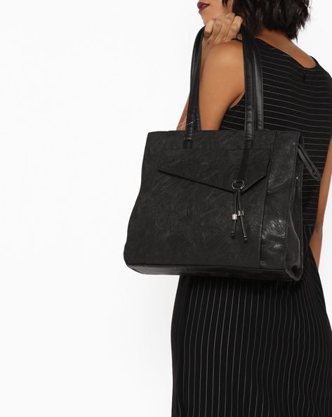 L Circa Y G Upton Tote Bag By BAGGIT ( Black )