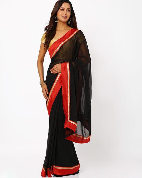 Chiffon Saree By Florence ( Black )